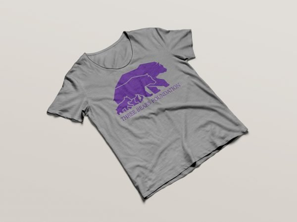 Three Bears T-shirt Grey