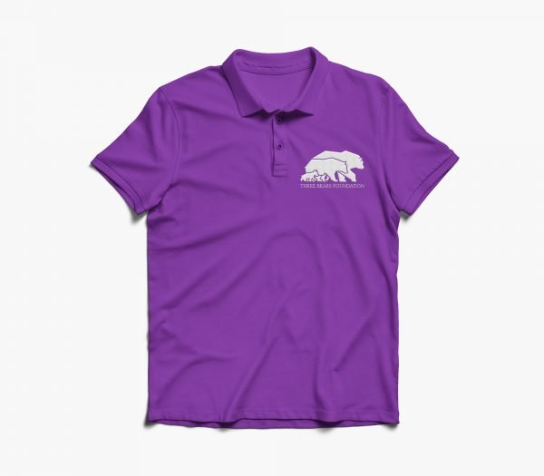 Threebears Polo Shirt Purple